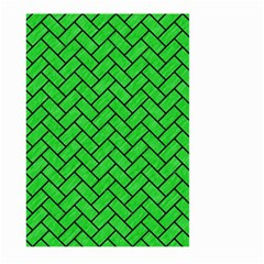 Brick2 Black Marble & Green Colored Pencil (r) Large Garden Flag (two Sides) by trendistuff