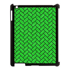 Brick2 Black Marble & Green Colored Pencil (r) Apple Ipad 3/4 Case (black) by trendistuff