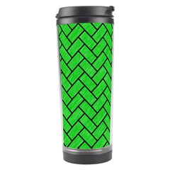 Brick2 Black Marble & Green Colored Pencil (r) Travel Tumbler by trendistuff