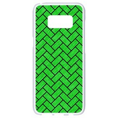 Brick2 Black Marble & Green Colored Pencil (r) Samsung Galaxy S8 White Seamless Case by trendistuff