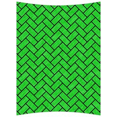 Brick2 Black Marble & Green Colored Pencil (r) Back Support Cushion by trendistuff