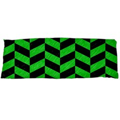 Chevron1 Black Marble & Green Colored Pencil Body Pillow Case Dakimakura (two Sides) by trendistuff