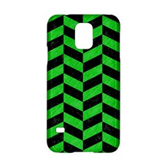 Chevron1 Black Marble & Green Colored Pencil Samsung Galaxy S5 Hardshell Case  by trendistuff