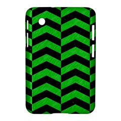 Chevron2 Black Marble & Green Colored Pencil Samsung Galaxy Tab 2 (7 ) P3100 Hardshell Case  by trendistuff