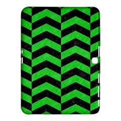 Chevron2 Black Marble & Green Colored Pencil Samsung Galaxy Tab 4 (10 1 ) Hardshell Case  by trendistuff