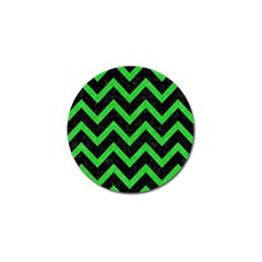 Chevron9 Black Marble & Green Colored Pencil Golf Ball Marker (10 Pack)