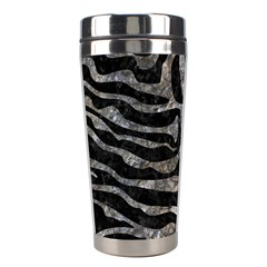 Skin2 Black Marble & Gray Stone Stainless Steel Travel Tumblers by trendistuff