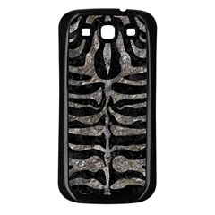 Skin2 Black Marble & Gray Stone Samsung Galaxy S3 Back Case (black) by trendistuff