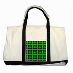 Circles1 Black Marble & Green Colored Pencil (r) Two Tone Tote Bag by trendistuff