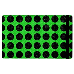 Circles1 Black Marble & Green Colored Pencil (r) Apple Ipad 2 Flip Case by trendistuff