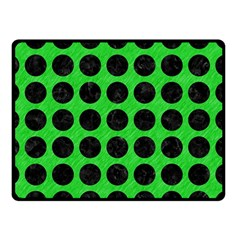 Circles1 Black Marble & Green Colored Pencil (r) Double Sided Fleece Blanket (small)  by trendistuff