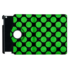 Circles2 Black Marble & Green Colored Pencil Apple Ipad 3/4 Flip 360 Case by trendistuff