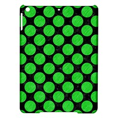Circles2 Black Marble & Green Colored Pencil Ipad Air Hardshell Cases by trendistuff