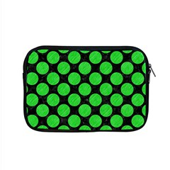 Circles2 Black Marble & Green Colored Pencil Apple Macbook Pro 15  Zipper Case by trendistuff