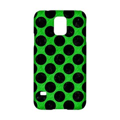 Circles2 Black Marble & Green Colored Pencil (r) Samsung Galaxy S5 Hardshell Case  by trendistuff