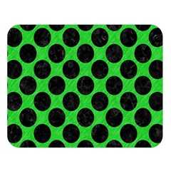 Circles2 Black Marble & Green Colored Pencil (r) Double Sided Flano Blanket (large)  by trendistuff