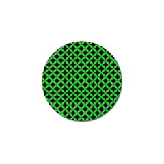 Circles3 Black Marble & Green Colored Pencil Golf Ball Marker (10 Pack) by trendistuff
