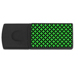 Circles3 Black Marble & Green Colored Pencil (r) Rectangular Usb Flash Drive by trendistuff