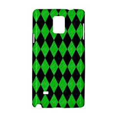 Diamond1 Black Marble & Green Colored Pencil Samsung Galaxy Note 4 Hardshell Case by trendistuff