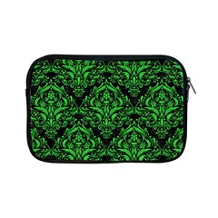 Damask1 Black Marble & Green Colored Pencil Apple Ipad Mini Zipper Cases by trendistuff