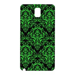 Damask1 Black Marble & Green Colored Pencil Samsung Galaxy Note 3 N9005 Hardshell Back Case by trendistuff