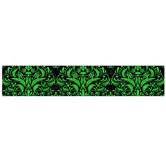 Damask1 Black Marble & Green Colored Pencil Flano Scarf (large)