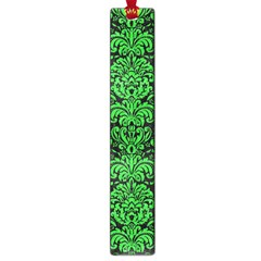 Damask2 Black Marble & Green Colored Pencil Large Book Marks by trendistuff