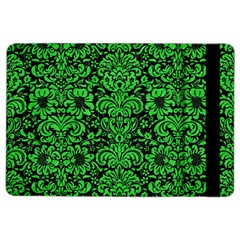 Damask2 Black Marble & Green Colored Pencil Ipad Air 2 Flip by trendistuff