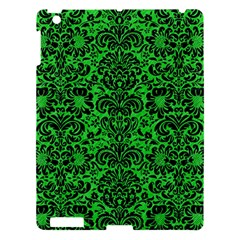Damask2 Black Marble & Green Colored Pencil (r) Apple Ipad 3/4 Hardshell Case by trendistuff