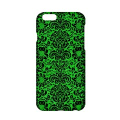 Damask2 Black Marble & Green Colored Pencil (r) Apple Iphone 6/6s Hardshell Case by trendistuff