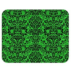 Damask2 Black Marble & Green Colored Pencil (r) Double Sided Flano Blanket (medium)  by trendistuff