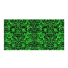 Damask2 Black Marble & Green Colored Pencil (r) Satin Wrap by trendistuff