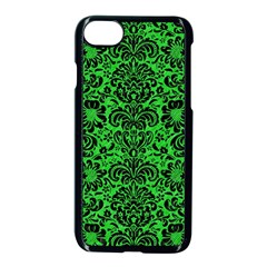 Damask2 Black Marble & Green Colored Pencil (r) Apple Iphone 7 Seamless Case (black) by trendistuff