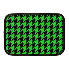 Houndstooth1 Black Marble & Green Colored Pencil Netbook Case (medium)  by trendistuff