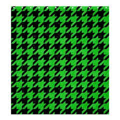 Houndstooth1 Black Marble & Green Colored Pencil Shower Curtain 66  X 72  (large)  by trendistuff