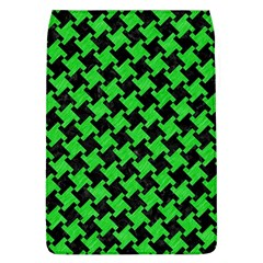 Houndstooth2 Black Marble & Green Colored Pencil Flap Covers (l)  by trendistuff