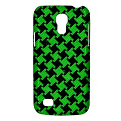 Houndstooth2 Black Marble & Green Colored Pencil Galaxy S4 Mini by trendistuff