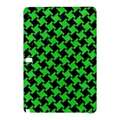 Houndstooth2 Black Marble & Green Colored Pencil Samsung Galaxy Tab Pro 12 2 Hardshell Case by trendistuff