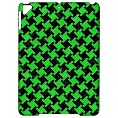 Houndstooth2 Black Marble & Green Colored Pencil Apple Ipad Pro 9 7   Hardshell Case by trendistuff