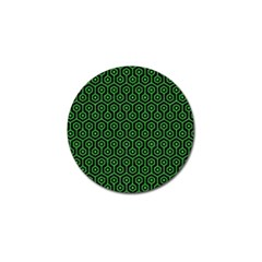 Hexagon1 Black Marble & Green Colored Pencil Golf Ball Marker (10 Pack)
