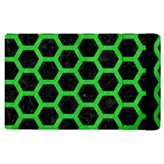Hexagon2 Black Marble & Green Colored Pencil Apple Ipad Pro 12 9   Flip Case by trendistuff