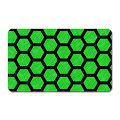 Hexagon2 Black Marble & Green Colored Pencil (r) Magnet (rectangular) by trendistuff