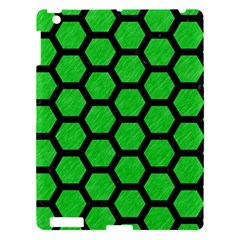 Hexagon2 Black Marble & Green Colored Pencil (r) Apple Ipad 3/4 Hardshell Case by trendistuff