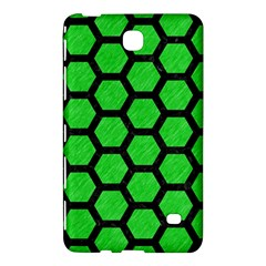 Hexagon2 Black Marble & Green Colored Pencil (r) Samsung Galaxy Tab 4 (8 ) Hardshell Case  by trendistuff