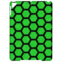 Hexagon2 Black Marble & Green Colored Pencil (r) Apple Ipad Pro 9 7   Hardshell Case by trendistuff
