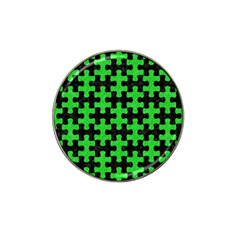 Puzzle1 Black Marble & Green Colored Pencil Hat Clip Ball Marker by trendistuff