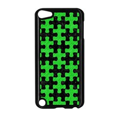 Puzzle1 Black Marble & Green Colored Pencil Apple Ipod Touch 5 Case (black)