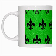 Royal1 Black Marble & Green Colored Pencil White Mugs by trendistuff