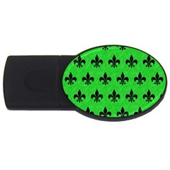 Royal1 Black Marble & Green Colored Pencil Usb Flash Drive Oval (4 Gb) by trendistuff