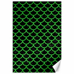 Scales1 Black Marble & Green Colored Pencil Canvas 12  X 18   by trendistuff